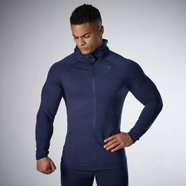 GymShark Fit Hooded Top Sapphire Blue
