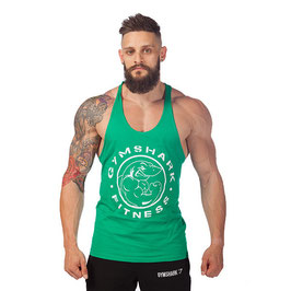 GymShark Fitness Gym Stringer Vest Kelly Green