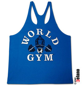 World Gym Classic Stringer blue