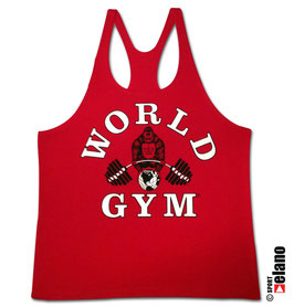 World Gym Classic Stringer red