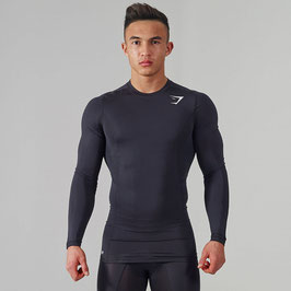 GymShark Element Compression Top Black/White