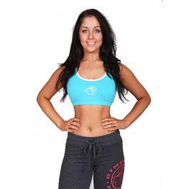 GymShark Training Bra Blue / White