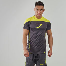 GymShark Fit Ascendant T-Shirt Graphite / Yellow