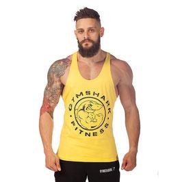 GymShark Fitness Gym Stringer Vest gelb