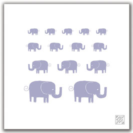 Elephants - Baby Feeding Mat