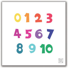 Numbers - Baby Feeding Mat