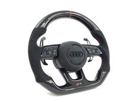 PSS PREMIUM AUDI RS Carbon Lenkrad EVO-X RED LINE