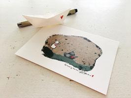 "Postkarte ""Treibgut"""