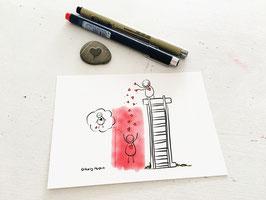 "Postkarte ""Herzdusche"""