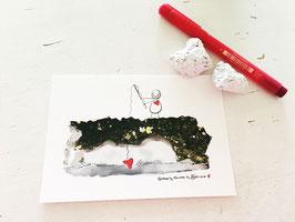 """Postkarte """"Herzfischen"""""""