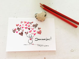 "Postkarte ""Show your love"""