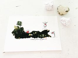 """Postkarte """"Herzfund"""""""