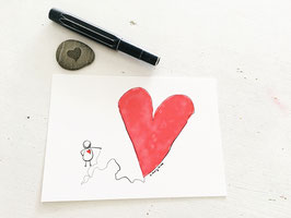 "Postkarte ""Herzluftballon"""