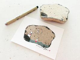 "Postkarte ""Flaschenpost"""