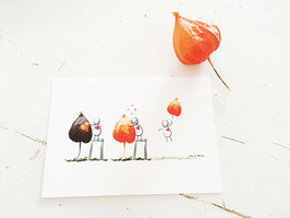 """Postkarte """"Liebe berührt"""""""