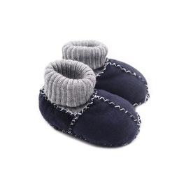 Chaussons bébé en peau d'agneau SOCKS bleu