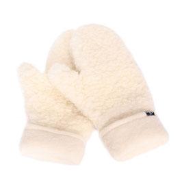 Moufles en laine naturelle de mouton écru