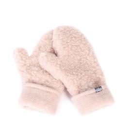 Moufles en laine naturelle de mouton marron clair