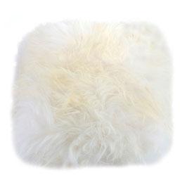 Coussin en fourrure naturelle de mouton islandaise blanche