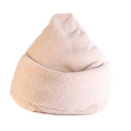 Bean bag Sofa Pouf poire en laine naturelle de mouton marron clair fabriqué en France