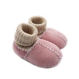 Chaussons bébé en peau d'agneau SOCKS rose
