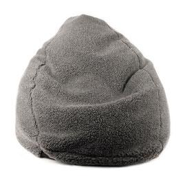 Bean bag Sofa Pouf poire en laine naturelle de mouton gris anthracite fabriqué en France