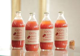 【無塩・無添加】100%ピュアスイートトマトジュース (4本×500ml)