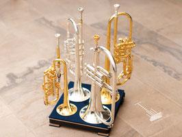 Trompetenständer für 2, 4 oder 8 hohe Blechblasinstrumente