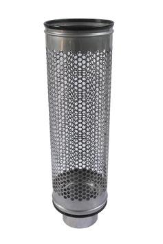Siebrohr für 110er KG Rohr (DN 100) Reduziert von 200er Siebrohr einseitig verschlossen