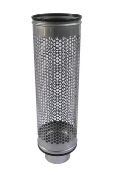Siebrohr für 125er KG Rohr (DN 125) Reduziert von 200er Siebrohr einseitig verschlossen