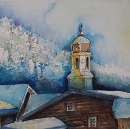 Winterdorf im Schnee