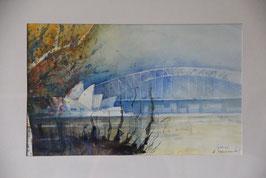 Sydney Oper und Harbour Bridge