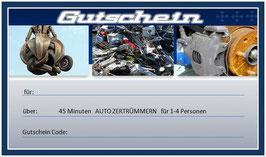 """Gutschein """"Auto zertümmern"""""""