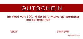 Gutschein Make- up Beratung