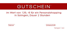 Gutschein Personalshopping in Solingen