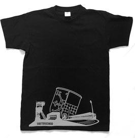 Shirt Skyline schwarz/silber