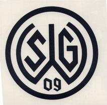 Aufkleber 09 Logo schwarz