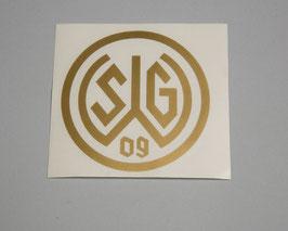 Aufkleber 09 Logo gold