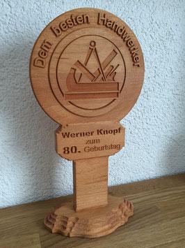 Zunft - Pokal aus Holz für Handwerker