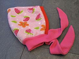 Kinderchäppli, rosa und orangerot