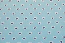Herzen, hellblau