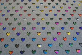 Herzli, farbig/grau