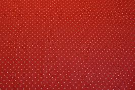 Punkte, weiss/rot