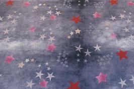 Sterne, rosa/blau