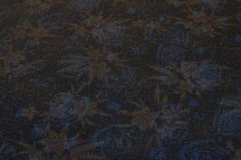 Floral, braun/blau
