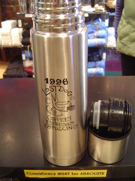 LostDogCoffee Logo 16 ounce Travel Vacuum Insulated Thermos