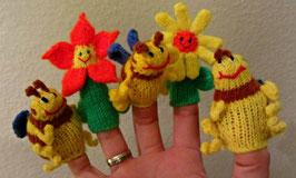 Fingerpüppchen Biene o. Blume