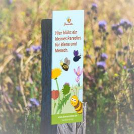 Schild 'Paradies für Biene und Mensch' (Design 2021)