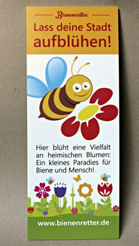 Schild 'Paradies für Biene und Mensch'