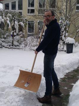 Schneeschieber Holz